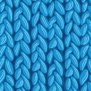 Chunky Blue Knit