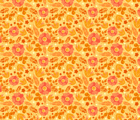 Fire Flowers fabric by oksancia on Spoonflower - custom fabric