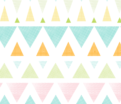 Colorful Ikat Triangles Stripes fabric by oksancia on Spoonflower - custom fabric