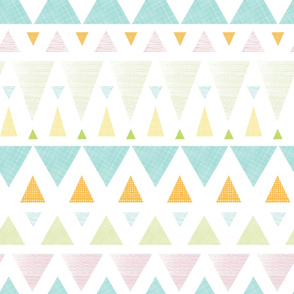 Colorful Ikat Triangles Stripes