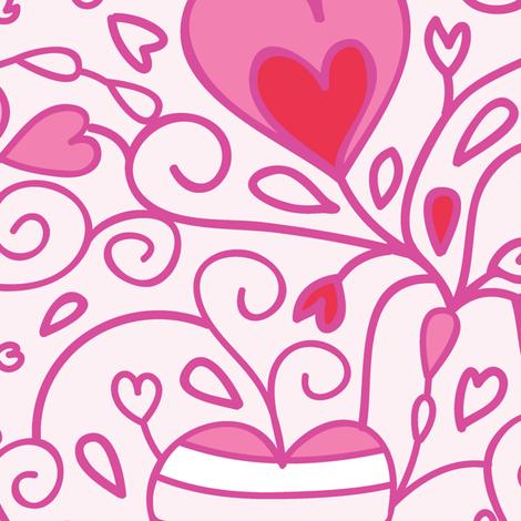 Birds In Love fabric by oksancia on Spoonflower - custom fabric