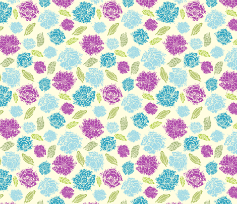 Painted Bouquet fabric by oksancia on Spoonflower - custom fabric
