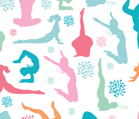 Girls Working Out fabric by oksancia on Spoonflower - custom fabric