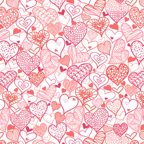 Romantic Hears fabric by oksancia on Spoonflower - custom fabric
