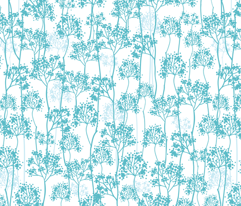 Among Tiny Trees fabric by oksancia on Spoonflower - custom fabric