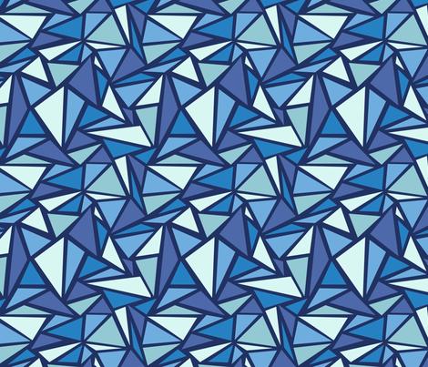 Blue Triangles fabric by oksancia on Spoonflower - custom fabric