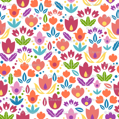 Ornamental Tulip Field