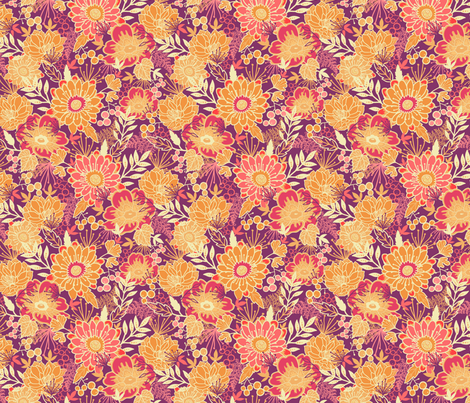 Warm Garden fabric by oksancia on Spoonflower - custom fabric