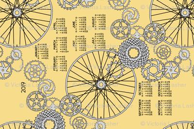 Beautiful bicycle parts 2019 tea towel calendar