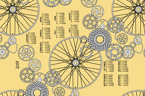 Rbeautiful_bicycle_parts_2019_calendar_tea_towel_pear_yellow_shop_preview