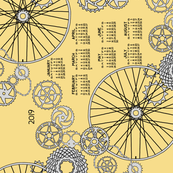 Beautiful bicycle parts 2019 tea towel calendar