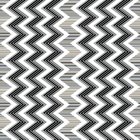 Stripes Black and White Chevron  fabric by joanmclemore on Spoonflower - custom fabric