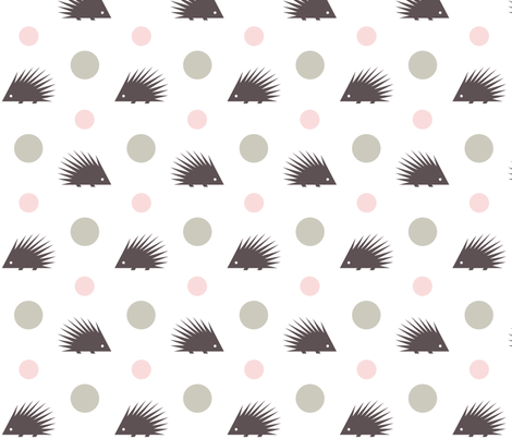 Hedgehog fabric by happy_to_see on Spoonflower - custom fabric