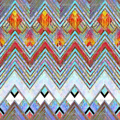 Zig Zag Flame Diamonds