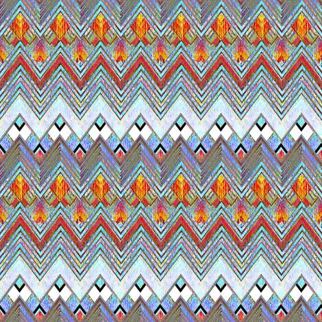 Zig Zag Flame Diamonds fabric by joanmclemore on Spoonflower - custom fabric