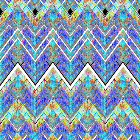 Zig Zag Flame blue fabric by joanmclemore on Spoonflower - custom fabric