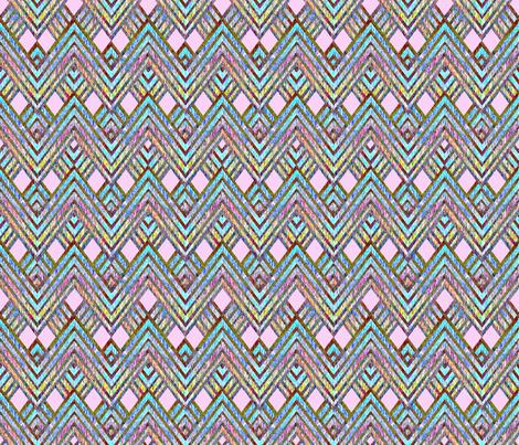 Zig Zag pink fabric by joanmclemore on Spoonflower - custom fabric