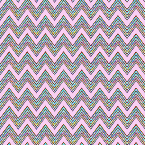 Zig zag pink flame stitch  fabric by joanmclemore on Spoonflower - custom fabric