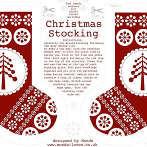 Christmas Stocking with Tree