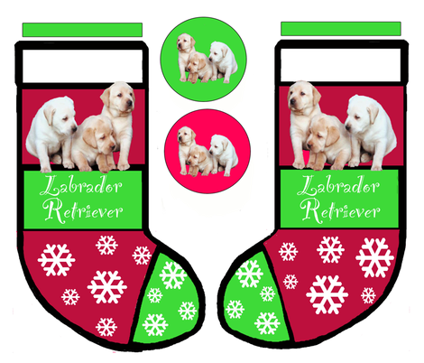 LABRADOR_RETRIEVER_puppy_CHRISTMAS_STOCKING fabric by dogdaze_ on Spoonflower - custom fabric