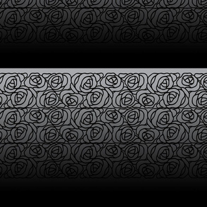Black Rose on Gray and Black Gradient