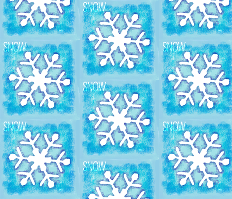 Snow Flake fabric by jenkdesigns on Spoonflower - custom fabric