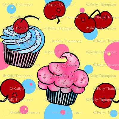 Little Cup Cakes-Lemon Cherry