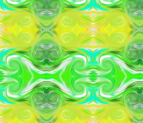 greenswirls fabric by lerhyan on Spoonflower - custom fabric