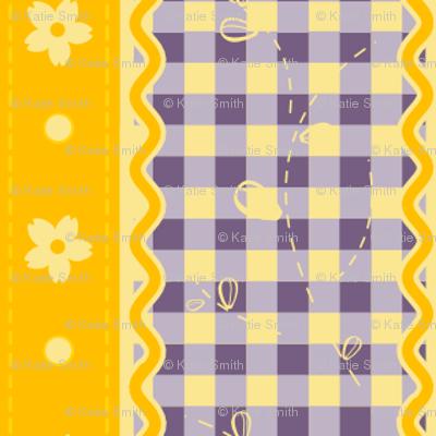 Yellow & Purple Contrast Gingham