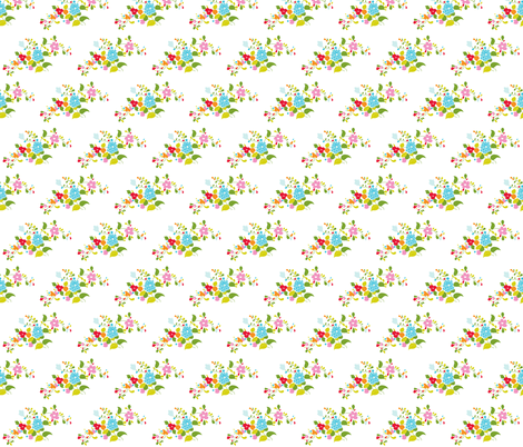 Bouquet fabric by carinaenvoldsenharris on Spoonflower - custom fabric