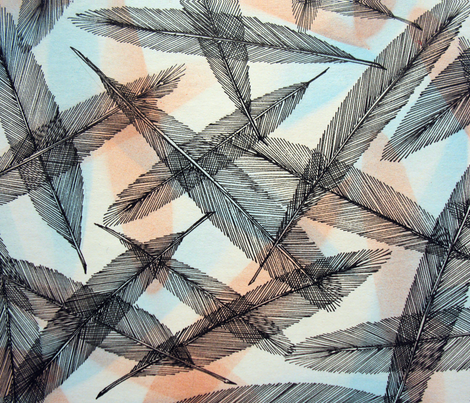 feather flurrry fabric by iszart on Spoonflower - custom fabric