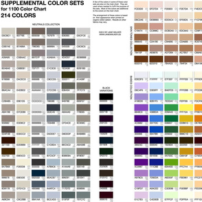 SUPPLEMENT to Practical 1100 Color Chart ©2011 by Jane Walker