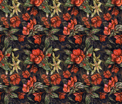 Antiqueflowers by Alexandra Cook fabric by linandara on Spoonflower - custom fabric