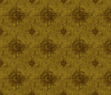 Steampunk Compass fabric by veetvoojagig on Spoonflower - custom fabric