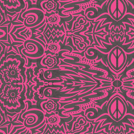 tribal_1_black_and_white-ch fabric by nightwingcreations on Spoonflower - custom fabric
