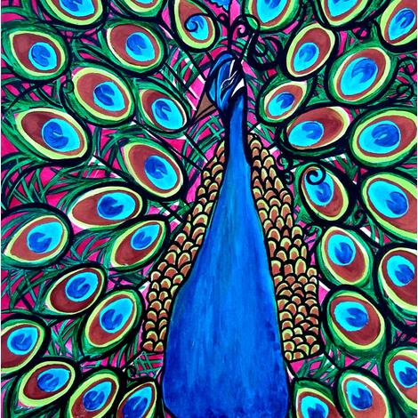 Brite Peacock fabric by heatherpeterman on Spoonflower - custom fabric