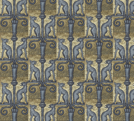 Who's Watching the Watch Dogs? fabric by susaninparis on Spoonflower - custom fabric