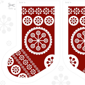 Christmas Stockings x 4 Cut and Sew Pattern