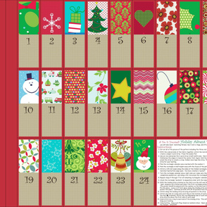 A Holiday Advent Calendar Bunting