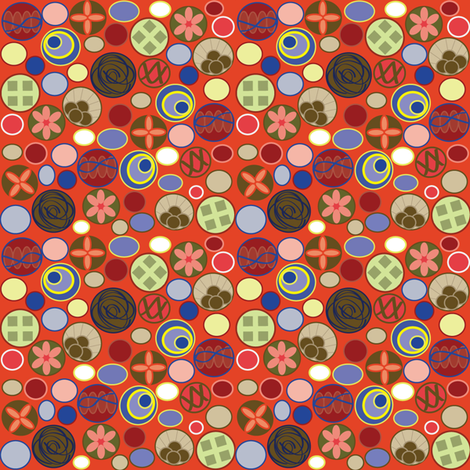Ditsy Circles fabric by chooks on Spoonflower - custom fabric