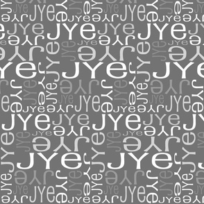 Personalised Name Fabric - Grey