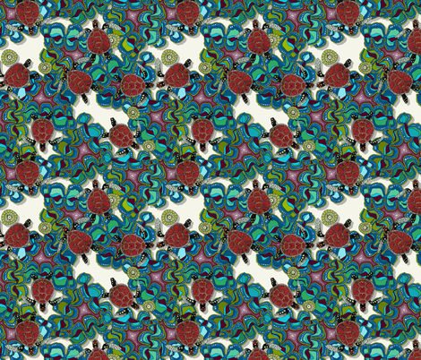 turtle reef small fabric by scrummy on Spoonflower - custom fabric