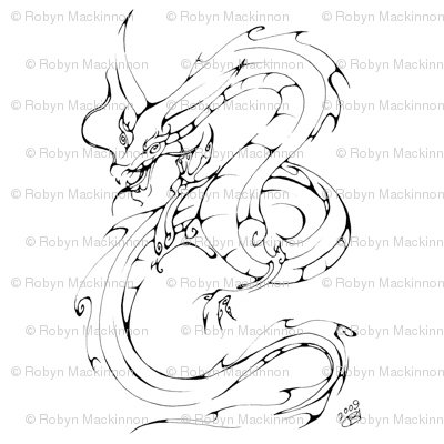 Inkblot Dragon