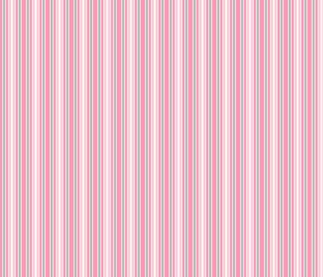 Personalised Name Fabric Coordinate - Stripes Pink Grey fabric by shelleymade on Spoonflower - custom fabric