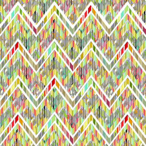 Zig Zag Shreds  fabric by joanmclemore on Spoonflower - custom fabric