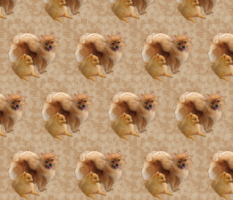 Pomeranians fabric fabric by dogdaze_ on Spoonflower - custom fabric