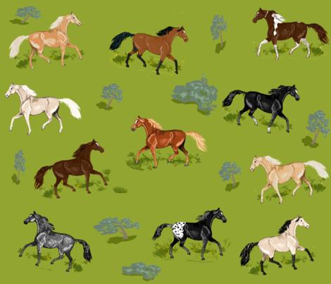 Horses_B_2 fabric by khowardquilts on Spoonflower - custom fabric