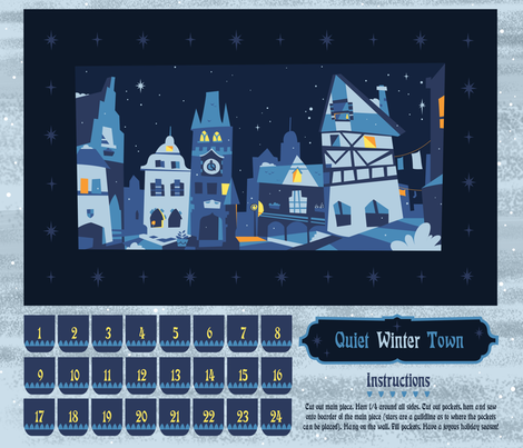 Quiet Winter Town fabric by theboerwar on Spoonflower - custom fabric