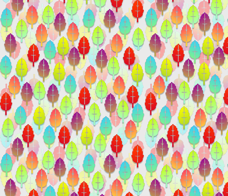 rainbow leaves fabric by glimmericks on Spoonflower - custom fabric