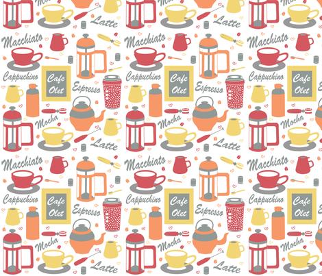Coffee fabric by jessiegirl92 on Spoonflower - custom fabric